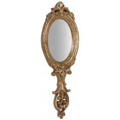 Specchiera da appendere 10x1x24 cm finitura oro anticato