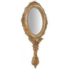 Specchiera da appendere 12x1,5x30 cm finitura oro anticato