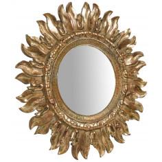 Specchiera da appendere diam.43x2 cm finitura oro anticato