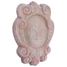 Stemma araldico invecchiato, in terracotta toscana L39xPR5xH52 cm