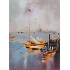 Quadro olio su tela dipinto a mano  50x3x70 cm