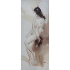 Quadro olio su tela dipinto a mano 40x3x100 cm