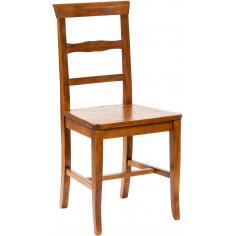 Sedia Country con struttura in faggio e seduta in legno massello di tiglio finitura noce L45xPR43xH92 cm