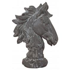 Testa di cavallo in resina finitura anticata L29xPR16,5xH41 cm - Biscottini.it