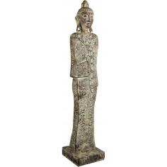 Statua di Buddha in gesso dipinto finitura anticata L25xPR25xH123 cm - Biscottini.it