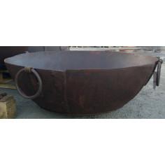 Vecchio contenitore in ferro battuto L80XPR80XH27 cm - Biscottini.it