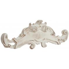 Sopraporta in legno finitura bianco anticato Made in Italy L57xPR6xH20 cm