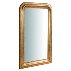 Specchiera da parete in legno finitura foglia oro anticato Made in Italy L43XPR3,5XH69 cm - Biscottini.it