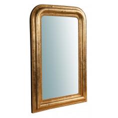 Specchiera da parete in legno finitura foglia oro anticato Made in Italy L52XPR5XH81 cm - Biscottini.it