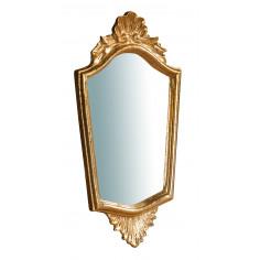 Specchiera da parete in legno finitura foglia oro anticato Made in Italy L20XPR2XH39 cm - Biscottini.it
