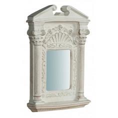 Specchiera da parete in legno finitura bianco anticato Made in Italy L21XPR3XH32 cm - Biscottini.it