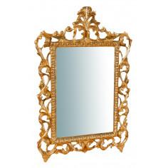 Specchiera da parete in legno finitura foglia oro anticato Made in Italy L45XPR4XH61 cm