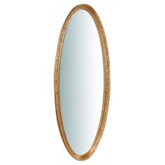 Specchiera da parete in legno finitura foglia oro anticato Made in Italy L52XPR4,5XH133 cm