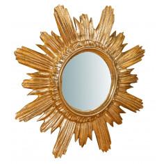 Specchiera da parete in legno finitura foglia oro anticato Made in Italy L43XPR4XH43 cm