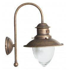 Lampada applique a muro style Vecchia Marina in fusione di ottone invecchiato L30XPR22XH37 cm Made in Italy
