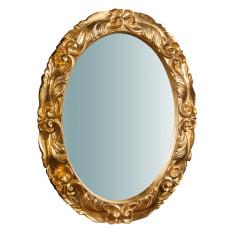 Specchiera da parete verticale/orizzontale in legno finitura foglia oro anticato made in italy L66XPR4,5XH88 cm