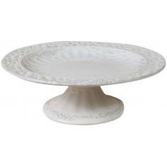 Alzata in porcellana bianca Shabby L25xPR25xH9 cm