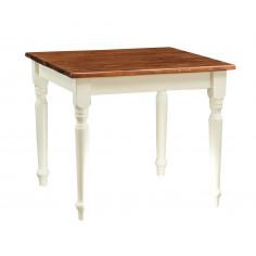 Tavolo quadrato fisso bicolore, prodotto artigianalmente. Made in Italy