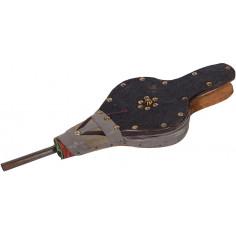 Soffietto a mantice artigianale  in legno, ferro e similpelle L43xPR15,5xH4,5 cm