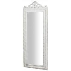 Specchiera da appendere  35x2x90 cm finitura bianco anticato
