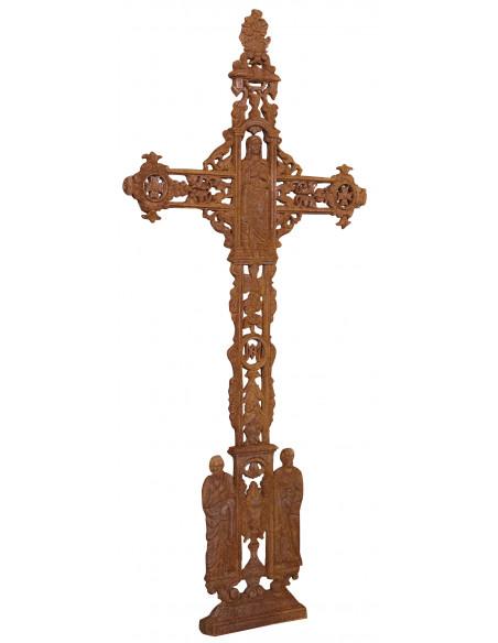 Croce in fusione di ghisa finitura ruggine naturale 85x4x175 cm