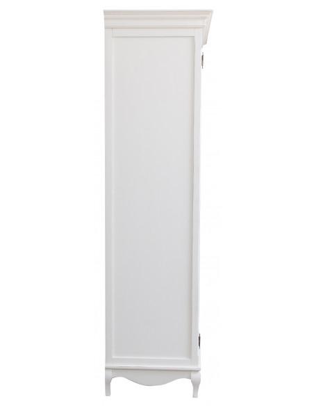 Armadio Shabby in legno massello di tiglio finitura bianca anticata L130xPR57xH205cm