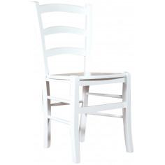 Sedia in legno massello di faggio finitura bianca laccata L45xPR45xH88 cm
